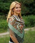 Сольвейг 1549-3, павлопосадский платок шерстяной  с шелковой бахромой, фото 2