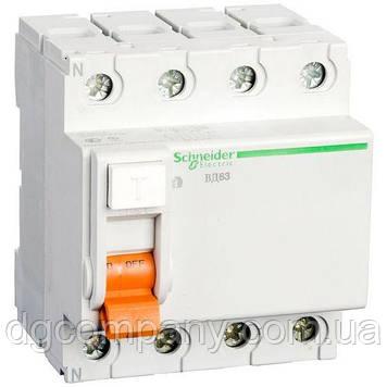 Пристрій захисного відключення(УЗО) Schneider ВД63 4п 63А 30мА