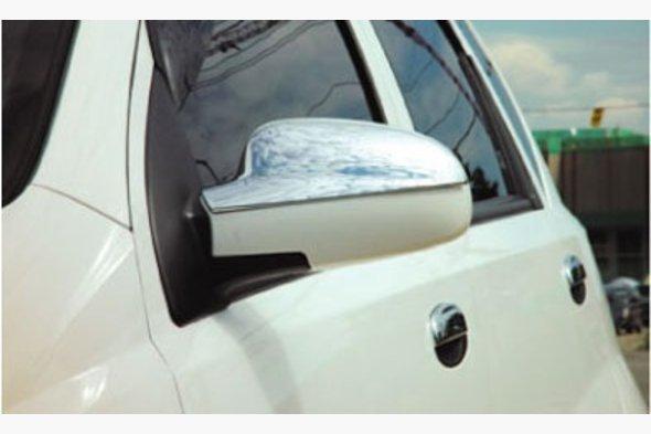 Накладки на зеркала Верхушка (2 шт, пласт) Chevrolet Aveo T200 2002-2008 гг.