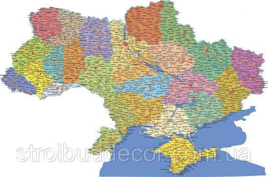 Фотообои  карта Украины  разные текстуры, индивидуальный размер