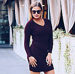 Женское вязаное облегающее платье (в расцветках), фото 4