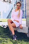 Женское вязаное облегающее платье (в расцветках), фото 5