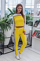 Костюм спортивный женский из двунитки со штанами на завязке (К28759), фото 1