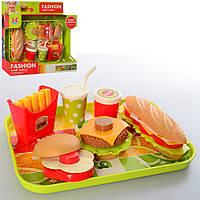 Игровой набор продуктов Фаст Фуд на подносе