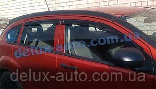 Ветровики Cobra Tuning на авто Dodge Caliber 5d 2007 Дефлекторы окон Кобра для Додж Калибер 5д 2007