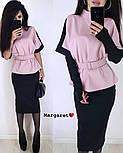 Женский костюм: кофта и юбка-карандаш и перчатки (в расцветках), фото 5