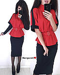 Женский костюм: кофта и юбка-карандаш и перчатки (в расцветках), фото 9