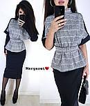 Женский костюм: кофта и юбка-карандаш и перчатки (в расцветках), фото 2