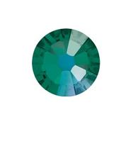 Стразы стеклянные SS 3 Emerald Изумруд, 100 шт
