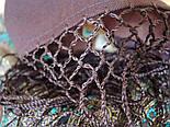 Губернаторский  1504-17, павлопосадский платок (шаль) из уплотненной шерсти с шелковой вязаной бахромой, фото 6