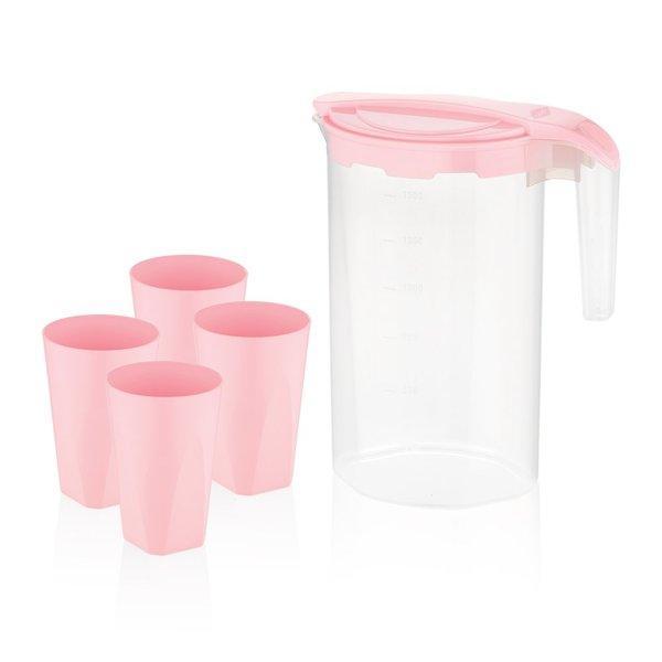 Питьевой набор пластик BAGER BG-424 P /PINK/НАБОР/5 пр. д/напитков (BG-424 P)