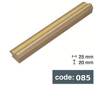 Багет дерев'яний світло золотий