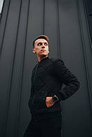 Мужская куртка осенняя черная