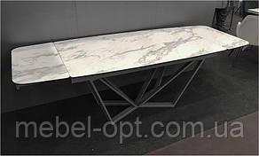 Стол раскладной HARBOR VOLAKAS White белый стеклокерамика 1600(+800)х900х760