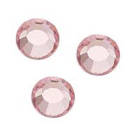 Стразы стеклянные SS 3 Light Rose Светло-розовый, 100 шт