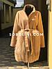 Пальто з хутром блюфроста, роботи магазину Соболини