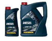 Моторное минеральное масло MANNOL DIESEL 15W-40 5л