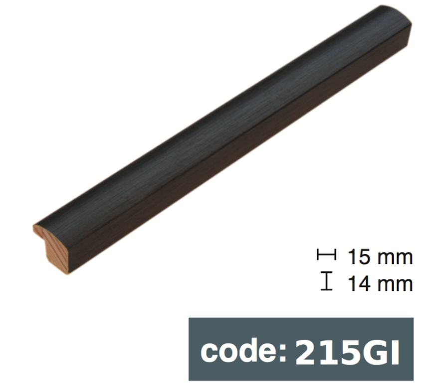 Багет дерев'яний стальний