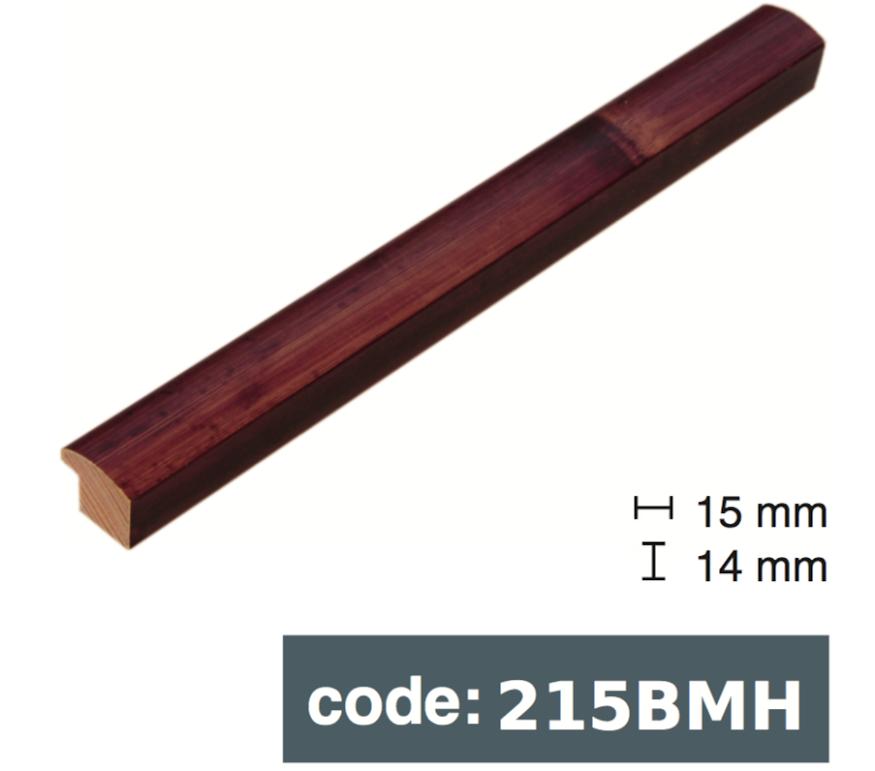 Багет дерев'яний червоний бамбук