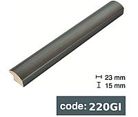 Багет дерев'яний сіра сталь