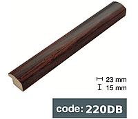 Багет дерев'яний Коричневий з чорною рискою/Коричневий/Темно коричневий, фото 1