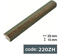 Багет дерев'яний зелений