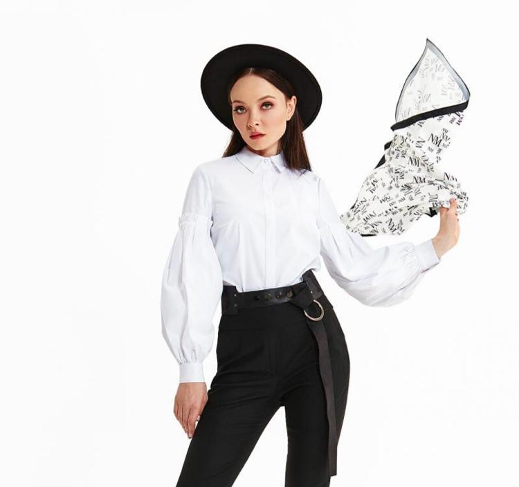 Блуза женская Noche Mio ARIOSO 6.002, рубашка белая