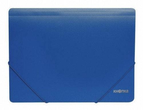 Папка пластикова на гумках Ф-4 синя 75282-02 (20/120), фото 2