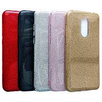 Переливающийся силиконовый чехол для Xiaomi Redmi 5 Plus (Разные цвета)