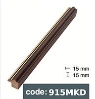 Багет дерев'яний  коричневий із 2 смужками/темно коричневий