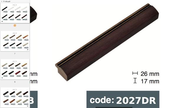 Багет дерев'яний коричневий світлий