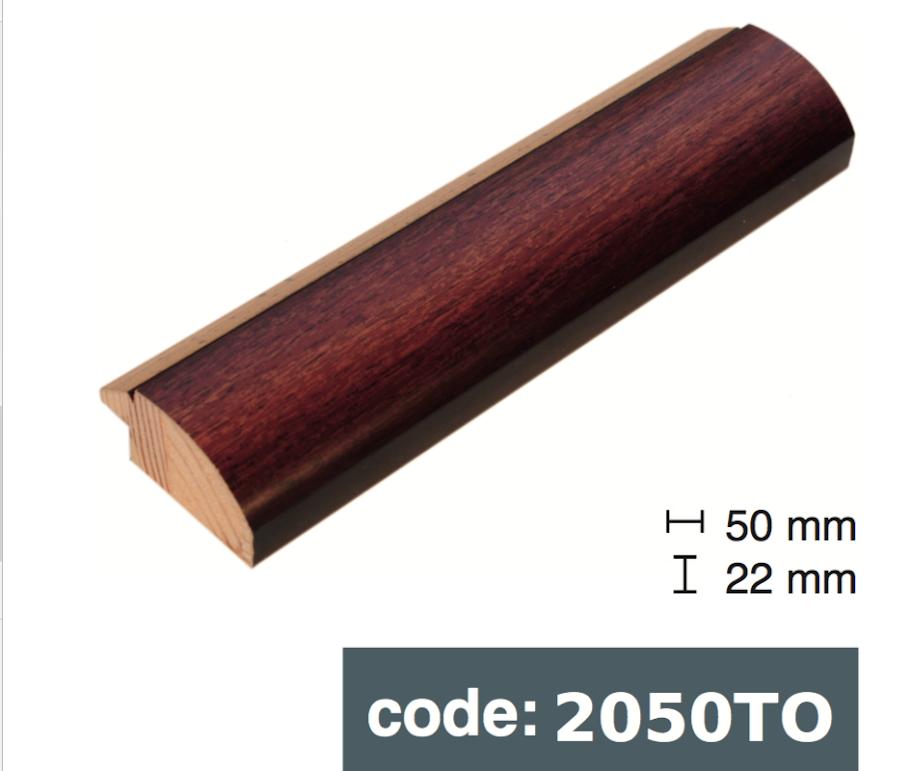 Багет дерев'яний коричнева деревина із чорним крайчиком