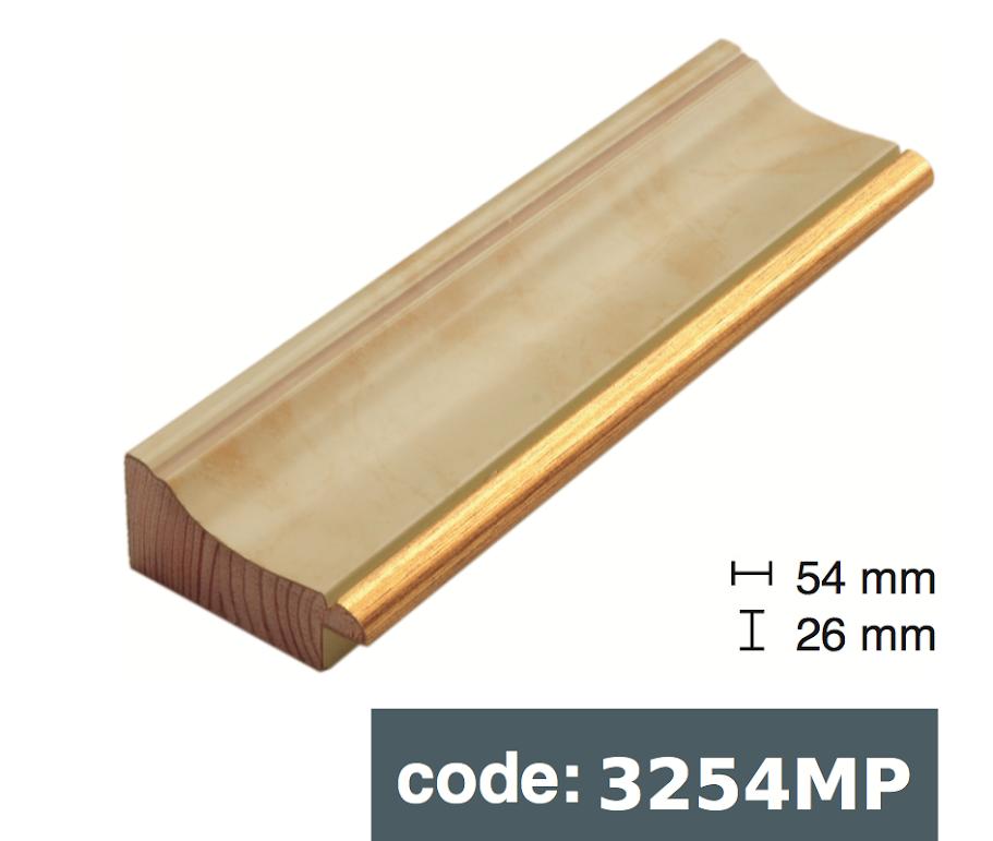 Багет дерев'яний бежевий мармур
