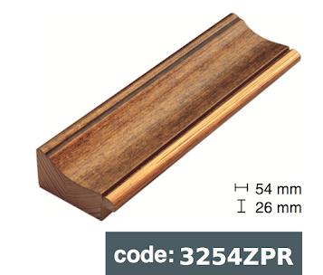 Багет дерев'яний бронзовий