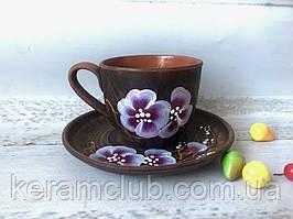 Набір кавова чашка 180 мл з блюдцем з малюнком