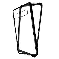 Накладка DK Tempered Glass Magneto Cover Sandwich для Samsung S10 (black)