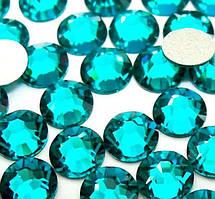 Стразы стеклянные SS 3 Blue Zircon , 100 шт