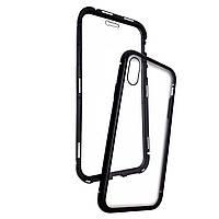 Накладка DK Tempered Glass Magneto Cover Sandwich для Apple iPhone XS Max (black)
