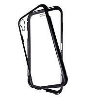 Накладка DK Tempered Glass Magneto Cover Sandwich для Apple iPhone XR (black)