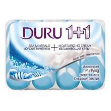 Мило туалетне Duru, Soft Sensations, 1+1,морські мінерали  4*90 г