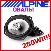 """Акустика для авто Alpine SXE-6925S (Авт. гучномовець, 2-пол. коакс, 6""""x9"""", з грилями 280/45Вт)"""