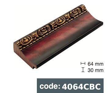 Багет дерев'яний бордо