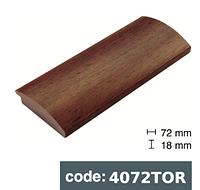 Багет дерев'яний коричневий з чорними плямами