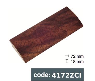 Багет дерев'яний бронзовий з чорними краплями