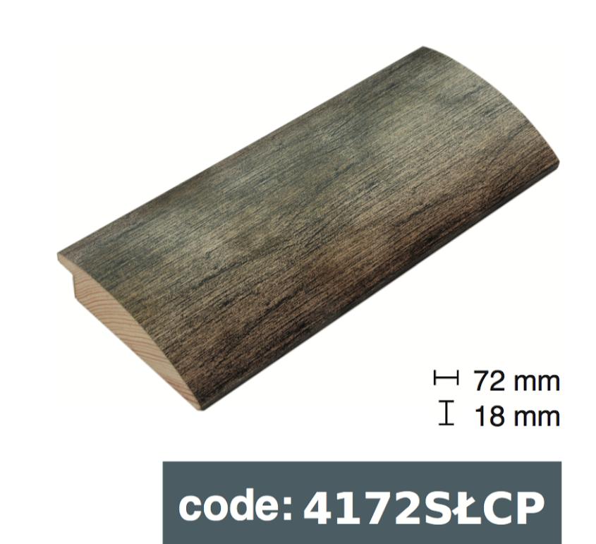 Багет дерев'яний сірий темний потертий