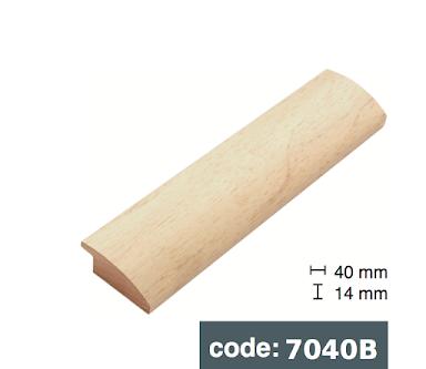 Багет дерев'яний Cлонова кістка/ Біло помаранчевий