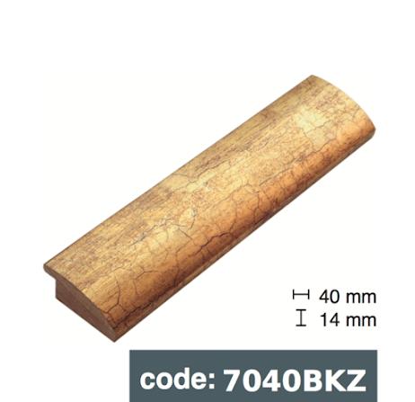 Багет дерев'яний Потріскане золото/ Потріскане срібло