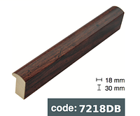 Багет дерев'яний коричневий з чорними краплями