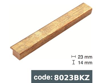 Багет дерев'яний Cтаре золото/Старе срібло потріскане