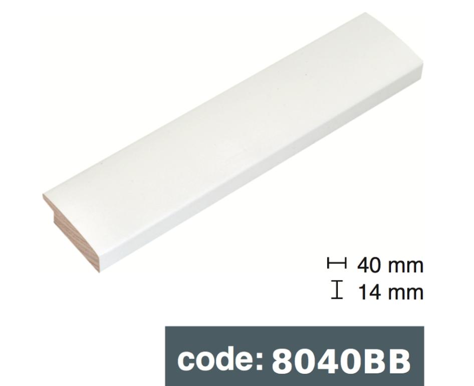 Багет дерев'яний білий